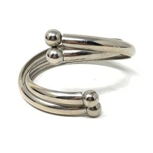 Stainless Steel Coiled Cuff Bracelet